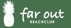 Beachclub Far Out Logo Wit